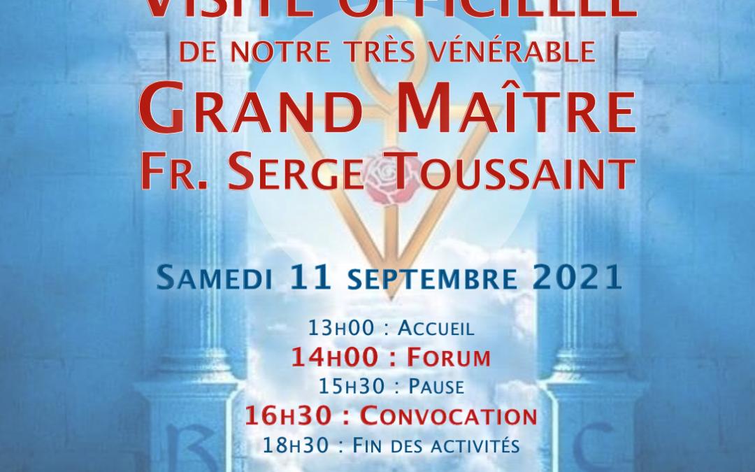 11 septembre 2021 : Visite officielle du Grand Maître
